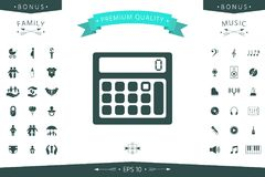 Calculator symbol icon. Element for your design Stock Photography