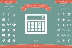 Calculator symbol icon. Element for your design . Signs and symbols - graphic elements for your design Royalty Free Stock Photo