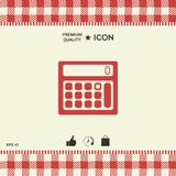 Calculator symbol icon. Element for your design Royalty Free Stock Photography