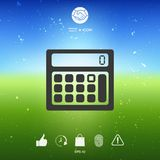 Calculator symbol icon. Element for your design Stock Image