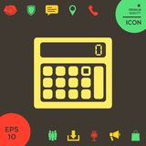 Calculator symbol icon. Element for your design . Signs and symbols - graphic elements for your design Royalty Free Stock Images