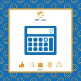 Calculator symbol icon. Element for your design . Signs and symbols - graphic elements for your design Stock Image