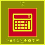 Calculator symbol icon. Element for your design . Signs and symbols - graphic elements for your design Royalty Free Stock Photography