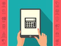 Calculator symbol icon. Element for your design . Signs and symbols - graphic elements for your design Royalty Free Stock Photos