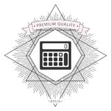 Calculator symbol icon. Element for your design . Signs and symbols - graphic elements for your design Stock Images