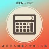 Calculator symbol icon. Element for your design . Signs and symbols - graphic elements for your design Stock Photos