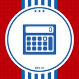 Calculator symbol icon. Graphic element for your design Stock Image