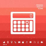 Calculator symbol icon. Signs and symbols - graphic elements for your design Royalty Free Stock Photo