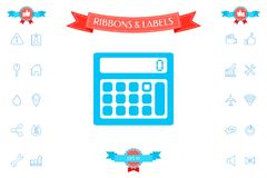 Calculator symbol icon. Signs and symbols - graphic elements for your design Stock Photo