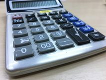 Calculator. On table Stock Photography
