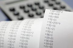 Calculator tape Royalty Free Stock Image