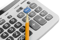 Calculator for tax Stock Images