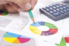 Calculator and Tax Returns Stock Images