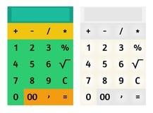 Calculator template Stock Photos