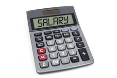Calculator with term Salary isolated stock photography