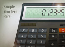 Calculator & text Stock Images