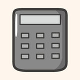 Calculator theme elements Stock Image