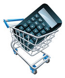 Calculator trolley concept Royalty Free Stock Images