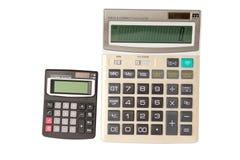 Calculator twee stock foto's