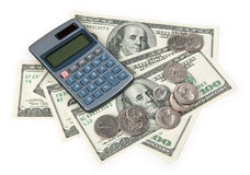 Calculator and US money Stock Image