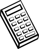 Calculator vector illustration Stock Image