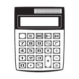 Calculator vector illustration in flat style Royalty Free Stock Photography