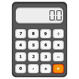 Calculator. Vector illustration of a school calculator stock illustration