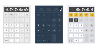 Calculator vector illustration on white background Stock Photos
