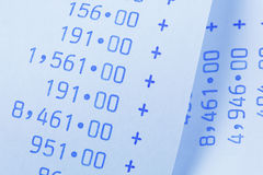 Calculator voor kosten, uitgaven, opbrengsten en Stock Afbeeldingen