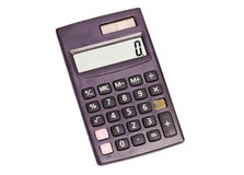 Calculator on white Royalty Free Stock Image