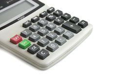Calculator on the white Royalty Free Stock Photography
