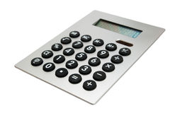 Calculator on white Royalty Free Stock Photos