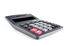 Calculator on white bacground - close-up Stock Image