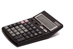 Calculator on a white background. Closeup Royalty Free Stock Image