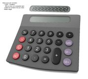 Calculator on a white background Stock Images