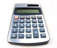 Calculator on white background Stock Images