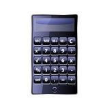 Calculator on white background. Photo-realistic illustration of a calculator Stock Photo