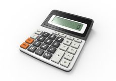Calculator on a White Background Stock Photography