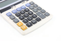 Calculator on white background Royalty Free Stock Image