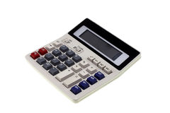 Calculator on a White Background. Royalty Free Stock Photos
