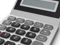 Calculator. On a white background. 3d illustration Stock Photo