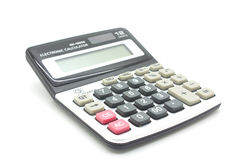 Calculator on a white background Royalty Free Stock Images
