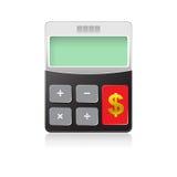 Calculator 02. Calculator on white background, vector eps10 illustration Stock Image