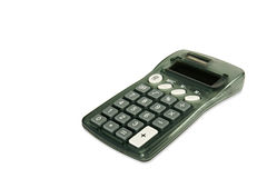Calculator on white diagonal Stock Images