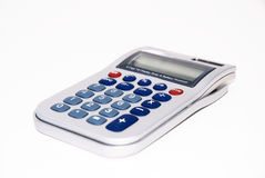 Calculator on white isolated background Royalty Free Stock Images