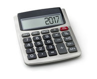 Calculator with the word 2017 on the display Royalty Free Stock Photo