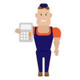 Calculator worker Royalty Free Stock Image
