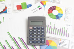 Calculator on the Worktable Royalty Free Stock Photography