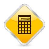 Calculator yellow square icon Stock Image