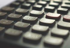Calculatorclose-up, zachte nadruk Royalty-vrije Stock Afbeeldingen